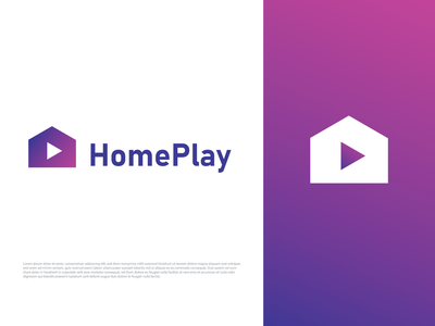 Gradient Home play Logo logotype unused logo house logo brandmark gradient monogram logo icon logo brand identity modern logos gradient color gradient logo home logo