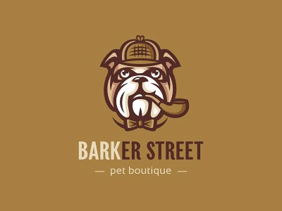 Barker Street 1 butterfly cigar tube detective holmes sherlock dog street barker