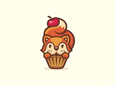 Sweet pie cookies orange sweet berry cherry logo cake fox squirrel