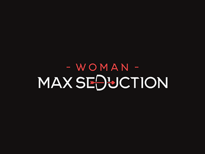 Max Seduction arrow design lodo meet temptation woman seduction max