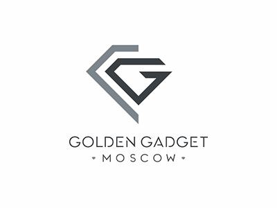 Golden Gadget diamond g letter design logo moscow gadget golden