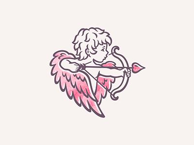 Academy of sexology heart arrow design cupid wings logo sexology academy