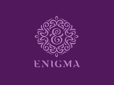 Enigma eyelashes beauty design logo cosmetics eyes girl brand enigma ornament