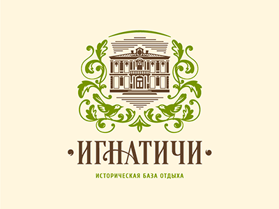 Ignatichi brand history landscape shield plant bird design holiday recreation home ignatichi logo