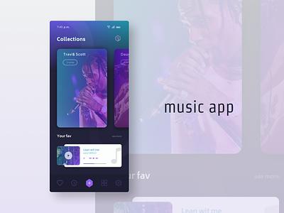 Music App minimal ui branding ux web design