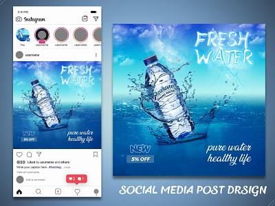 Social Media Post Design social professional photoshop poster ads facebook banner mineral drinking water post social media advertising instagram ads post design facebook ads branding graphic design