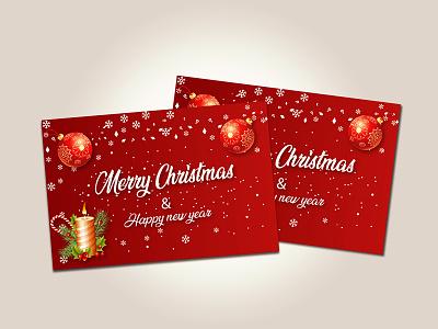 Christmas card winter banner illustration tree postcard design snow holiday christmas flyer holidays facebook banner facebook ads design branding christmas card