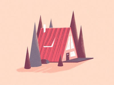 Cabin fever stylized photoshop cabin illustration