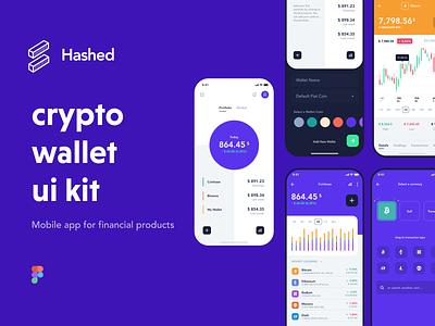 Hashed Crypto Wallet UI8 UI Kit mobilekit designsystem figma crypto wallet banking wallet app cryptocurrency mobile app financial wallet crypto fintech uikits uidesign ui8 uikit