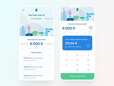 Applying for a loan flow loans loan calculator loans brokers loan app loan bank app ux financial app dashboard mobile app bank financial wallet banking fintech