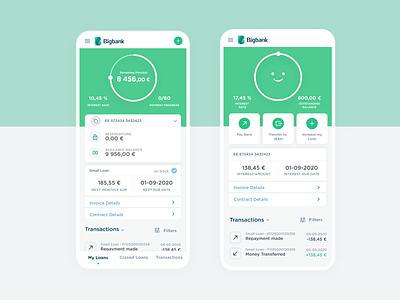 Loan Management Dashboard bank app financial app dashboard mobile app bank financial wallet banking fintech loan app loans