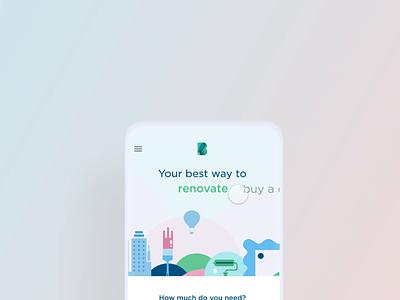 Applying for a loan flow animated microinteraction loan app loans loan clean bank app financial app dashboard mobile app bank financial wallet banking fintech