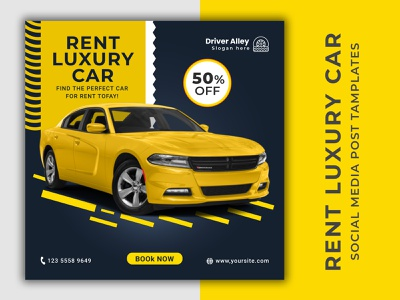 Social Media Luxury Car Banner Design need a car luxury car ui logo facebook ad social poster instagram banner graphic design car banner adobe photoshop