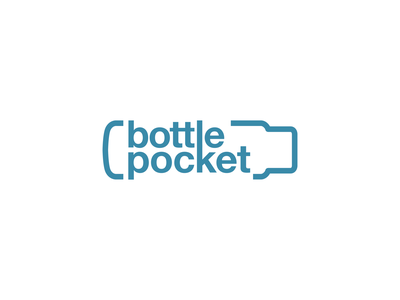 Bottle Pocket logo design concept logo designer logo design