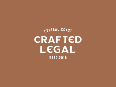 Crafted Legal logodesigner logodesign logo