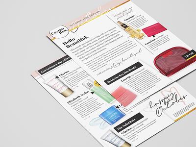 Cozmobx Flyer print cosmetics print design
