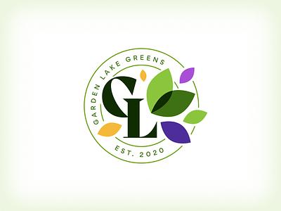 Garden Lake [micro]Greens leaves greens logo logo designer logo design microgreens