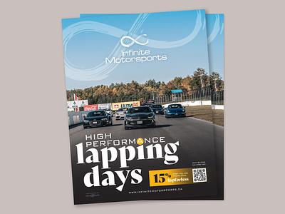 Infinite Motorsports print design advertising design advertisement design advertisement lapping days