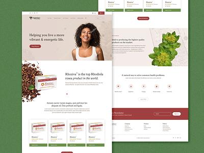 Nanton Nutraceuticals web designer web design