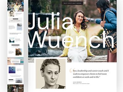 Julia Wuench website design web design feature
