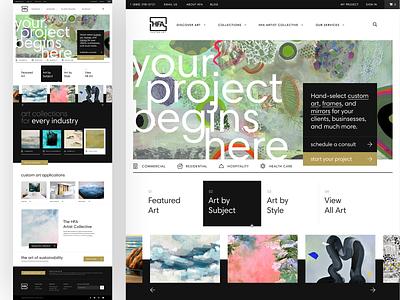 HFA Custom Art web design website designer website design