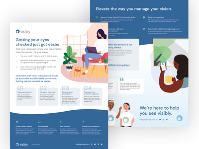 Visibly One Pager onepage one page print designer visibly sell sheet sell sheet design print design