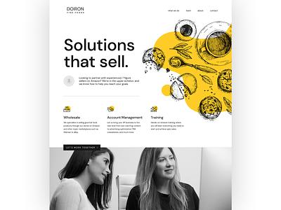 Doiron Fine Foods yellow doiron gourmet food fine foods web designer website designer website design web design