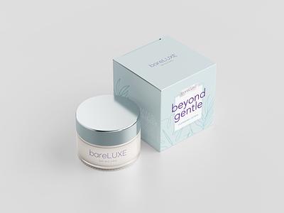 bareLUXE Skincare skincare packaging teal purple box design skincare packaging designer packaging design