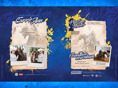 Plus One Master stallion aqha magazine print ad spread page double