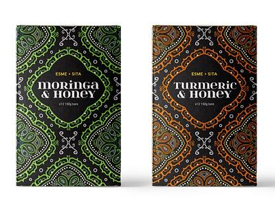 Esme & Sita packaging pattern design