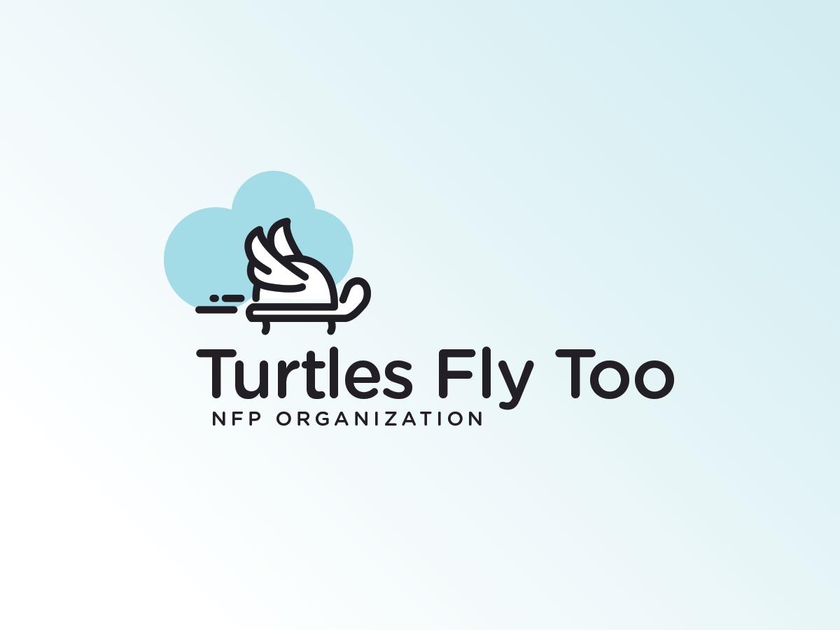 Turtles Fly Too logodesign branding logo turtle nonprofit
