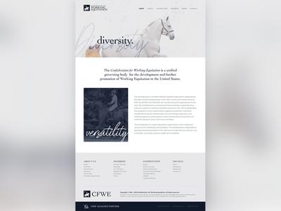 Confederation for Working Equitation equine design equitation graphic designers graphic designer website design web designer web design