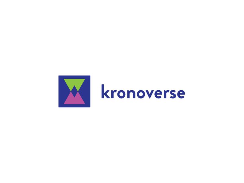 Kronoverse logo designer logo design concept logo design