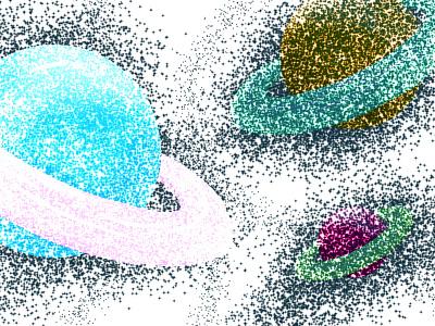 Partikel galaxy art vector flatdesign ilustration design designer design graphic design ilustrator