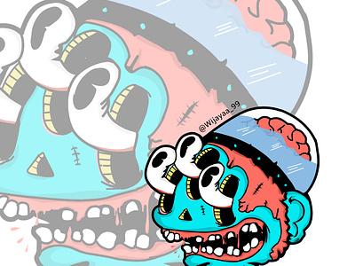 Head monster flat ux icon design ui vector minimal illustration designer design graphic design