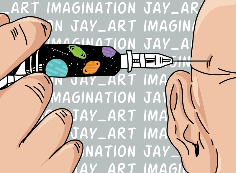 Imagination flat illustration flat design ilustrator flat vector branding illustration minimal designer design graphic design