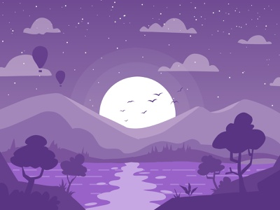 To night view ilustrator flat illustration flatdesign vector flat illustration minimal designer design graphic design