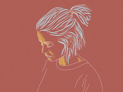 about a girl minimal procreate art portrait