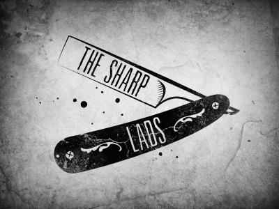 The Sharp Lads Revised logo logotype band grungy sharp razor straight grunge brand branding music rock