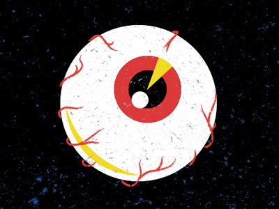 Eyeballin illustration logotype icon iconography eye eyeball spacy