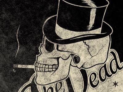 The Dead illustration dead tricks logo logotype