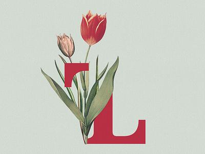 True Leaves Floral leaves true logotype l t acronym flowers floral branding brand logo