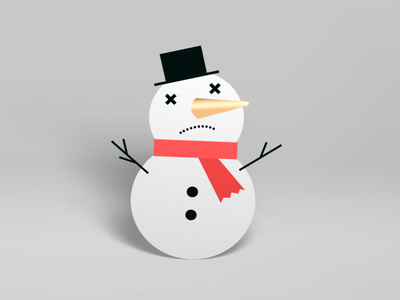 'Noman effects after vector christmas animation illustration snowman