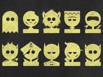 The Usual Suspects icon icons halloween mosters