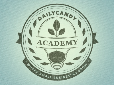 DailyCandy Academy Revised logo logotype badge crest