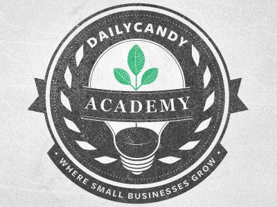 DailyCandy Academy Revised More logo logotype badge crest