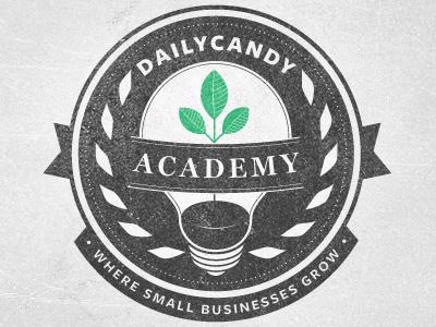 DailyCandy Academy Revised More logo logotype badge crest