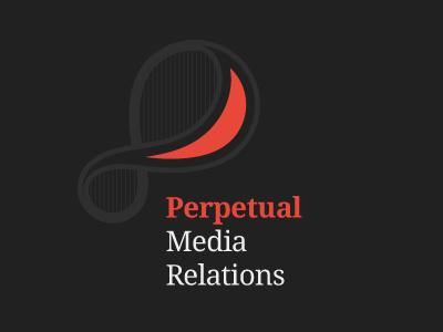 Perpetual Media Relations logo logotype branding brand pr media