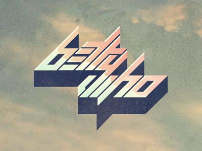 Betty Who 2 logo logotype typography custom retro futuristic