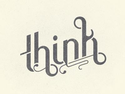 Think think typography type custom logo logotype manya kuzemchenko
